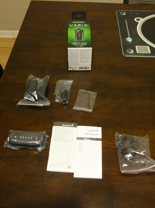 Package Contents for Smart Bike Tail Light