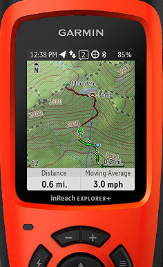 InReach Explorer+ Map