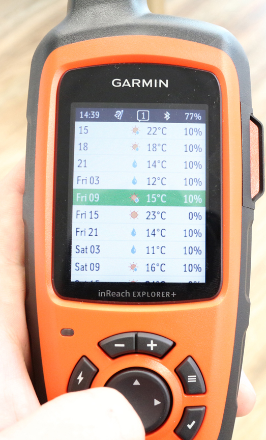 InReach Explorer+ Premium Weather Display