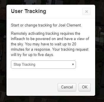 InReach Explorer+ Website Request User Tracking
