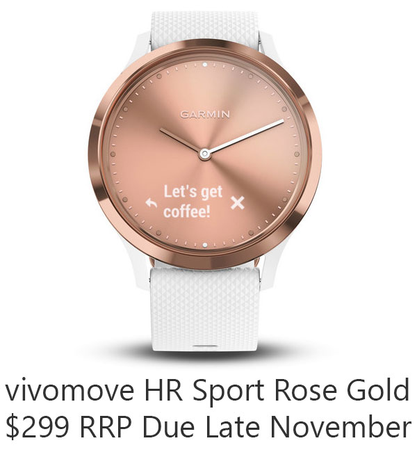 vivomove hr sport rose gold