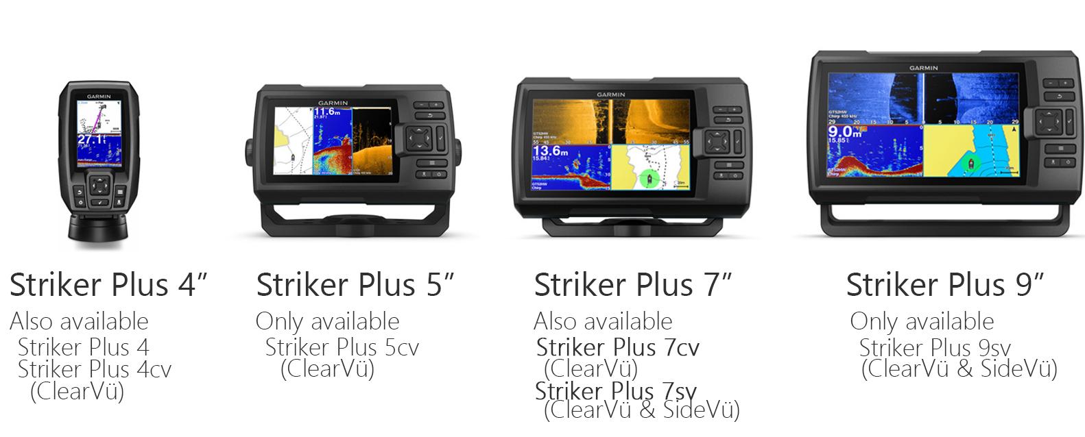 Striker Plus Series all available Australian models