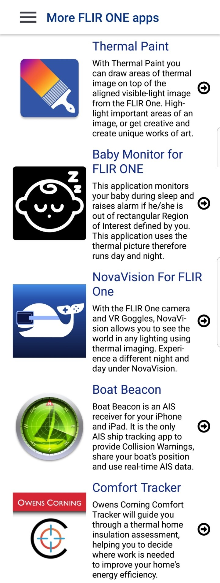 FLIR ONE Apps