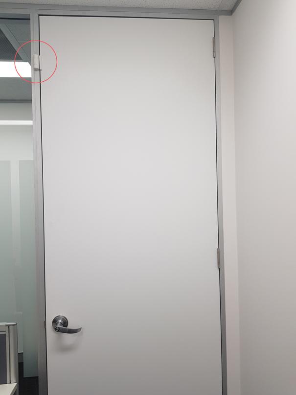 Smanos Door/Window Sensor Installed