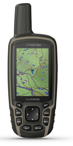GPSMAP 64SX Front Topo Active Maps