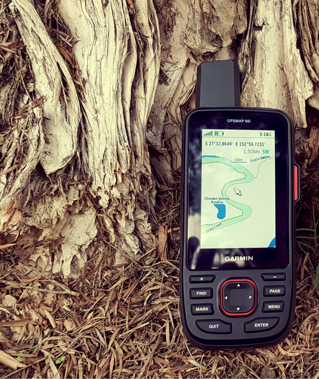 GPSMAP 66i in the field