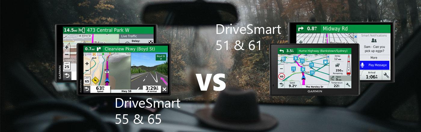 Garmin DriveSmart 65 & 55 VS Garmin DriveSmart 61 and 51