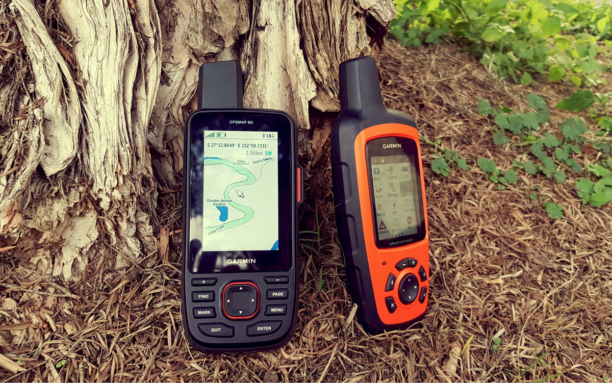 GPSMAP 66i (left) and inReach Explorer+ (right)