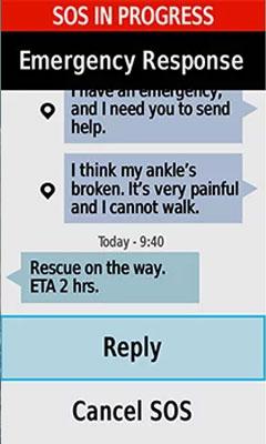 GPSMAP 66i - SOS Emergency Response Example