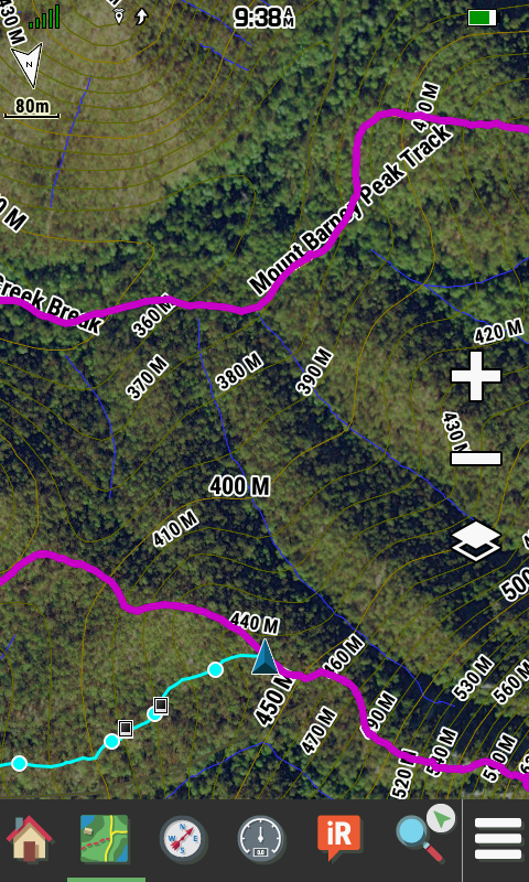 Montana 750i Mapping Satellite Overlay